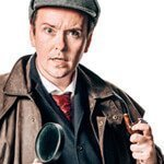 Sherlock Holmes murder mystery actor