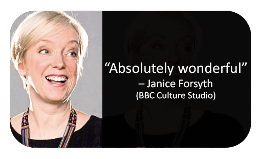Janice Forsyth of BBC culture Studio Reviews Murder Mystery company