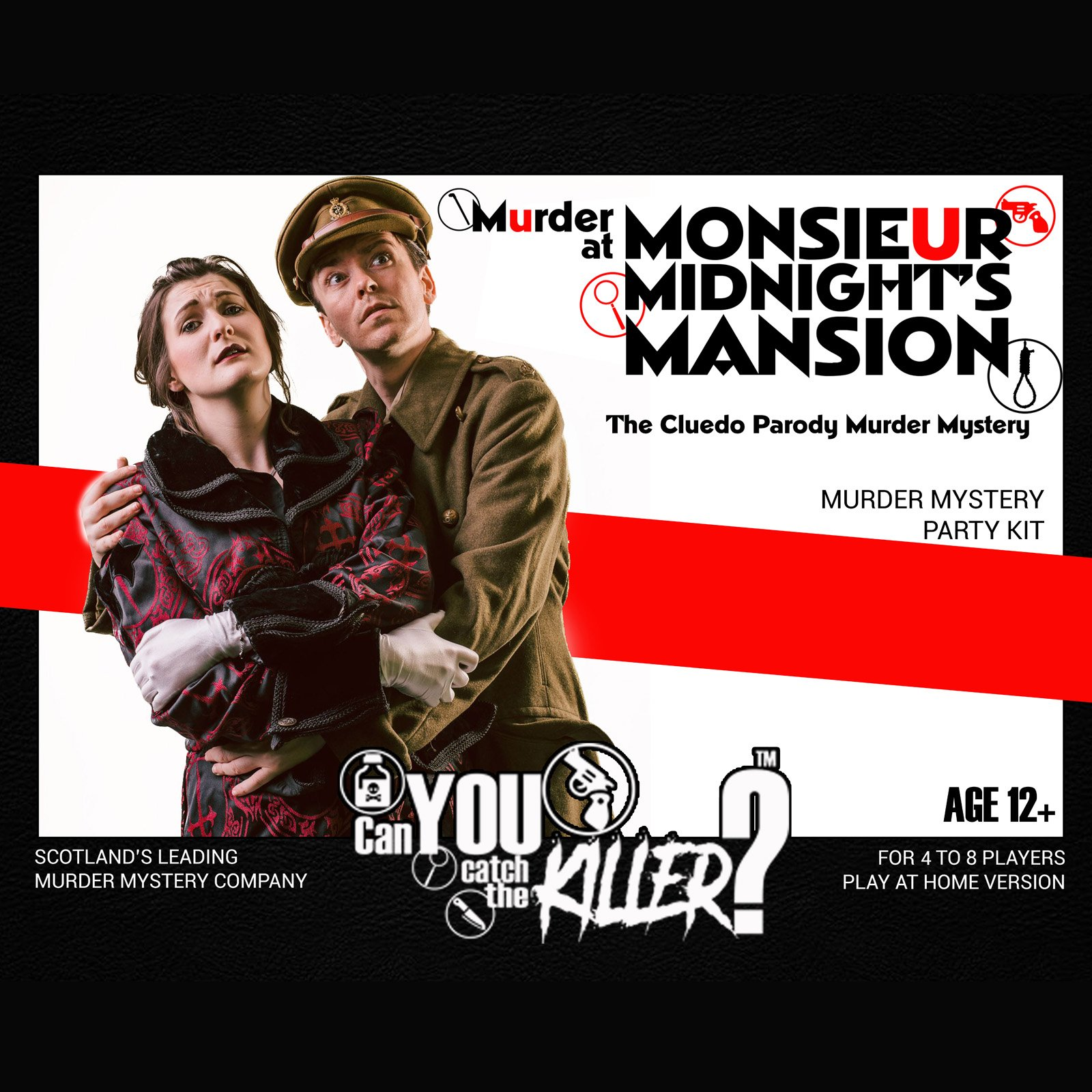 Murder at Monsieur Midnight's Manor Downloadable Party Kit