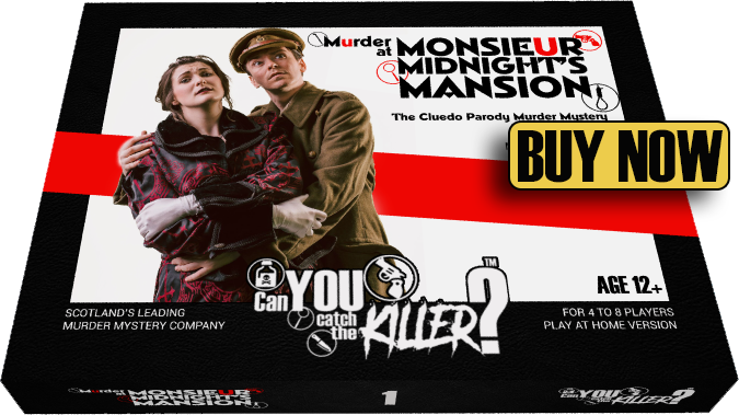 murder mystery party kit with call to action
